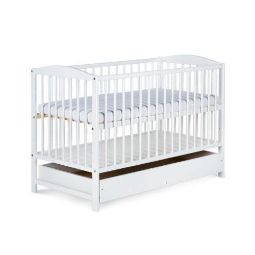 Bērnu gulta ar atvilktni 120x60cm KLUPS RADEK II , balts