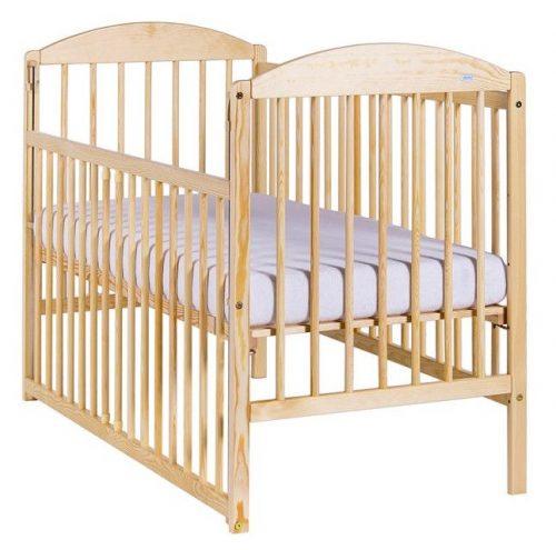 Bērnu gulta ar nolaižamu malu 120x60cm DREWEX KUBA II , priede