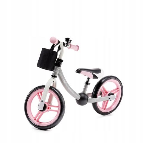 Bērnu skrējritenis ar metālisku rāmi KinderKraft 2WAY Next  Pink