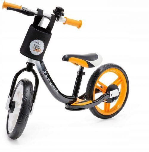 Bērnu skrējritenis ar metālisku rāmi KinderKraft Space Orange
