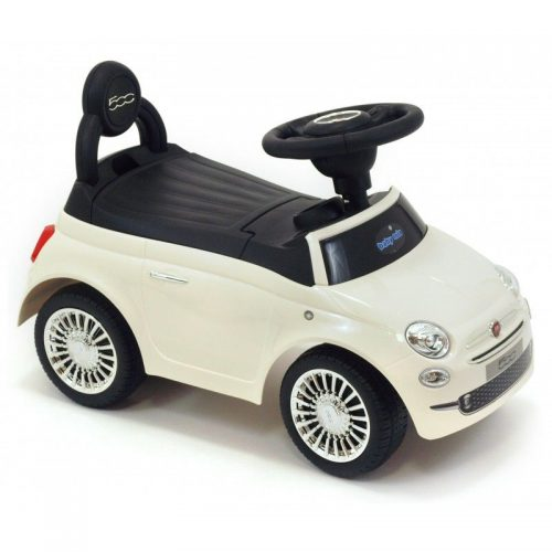 Bērnu stumjamā mašīna BABY MIX FIAT 500 , HZ620 balts