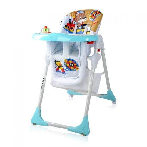 Barošanas krēsls 6m+  LORELLI YAM YAM BLUE BEAR SAILOR