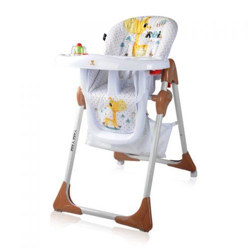 Barošanas krēsls 6m+ LORELLI YAM YAM  WHITE&BEIGE GIRAFFE