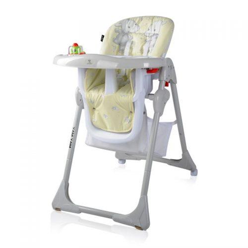 Barošanas krēsls 6m+  LORELLI YAM YAMYELLOW HAPPY HIPPO