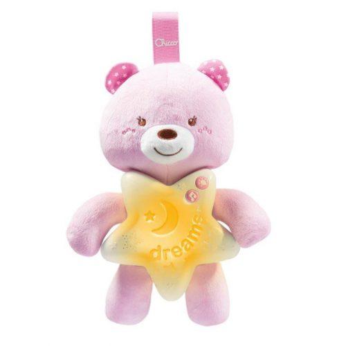 CHICCO FIRST DREAMS Miega lācītis- rozā