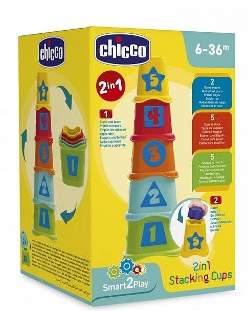 "CHICCO Piramīda ""2in1"", 6-36m"