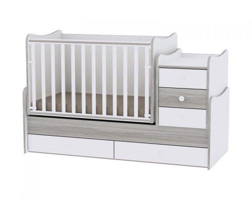 LORELLI MAXI PLUS bērnu gulta 70x160cm – WHITE/ARTWOOD
