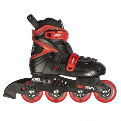 Skrituļslidas SEBA Junior – melns+sarkans