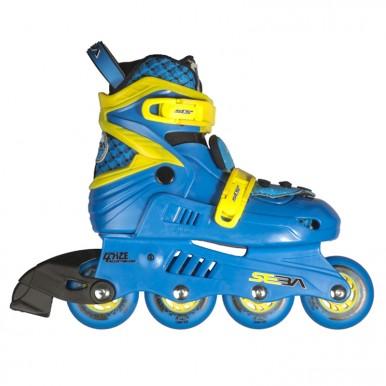 Skrituļslidas SEBA Junior – zils+dzeltens