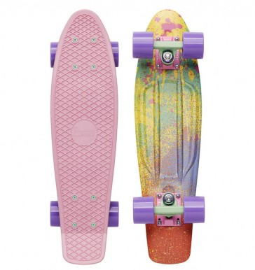 """skrituļdēlis  Penny boards """"22"""" ar dizainu – ūdenskrāsas"""