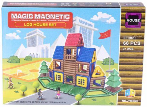 AS Magnētiskais konstruktors Log house Set SCHOOL JH8853 66 elem.