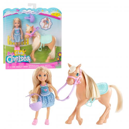 Barbie lelle Chelsea ar zirgu