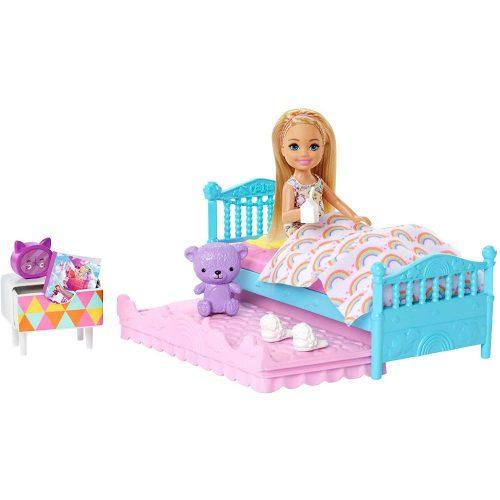 Barbie lelle Chelsea un  guļamistabas  piederumiem