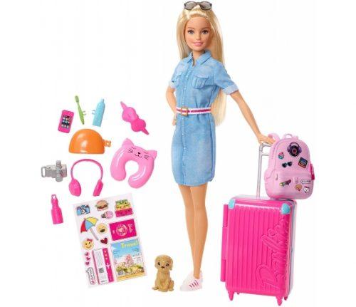 Barbie lelle ar ceļošanas piederumiem