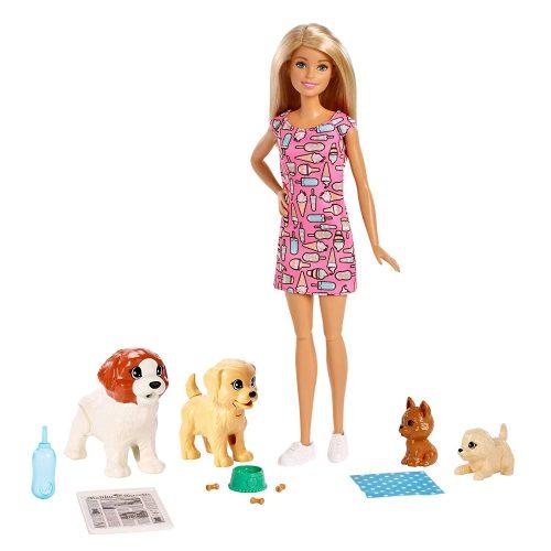 Barbie lelle ar kucēniem