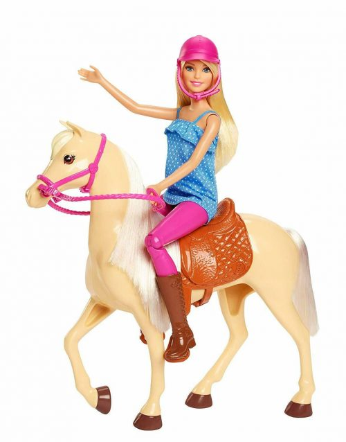 Barbie lelle ar zirgu