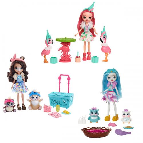 Enchantimals lelle ar dzīvnieciņu  Doll & Animal Themed Pack
