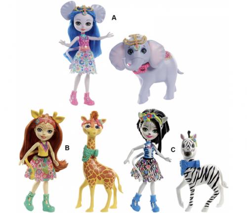 Enchantimals lelle ar dzīvnieciņu  Doll & Large Animal Storytelling