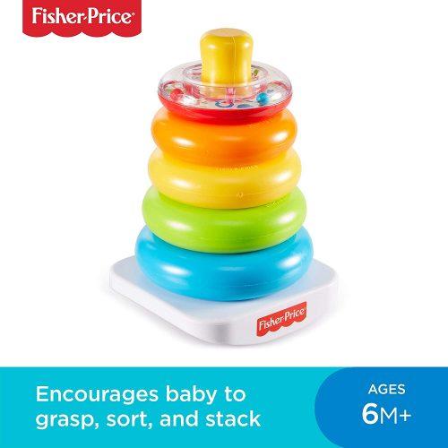 Fisher Price  attīstošā rotaļlieta tornis Rock-a-Stack