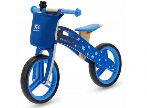 KinderKraft '19 skrējritenis ar koka rāmi Runner Galaxy Blue