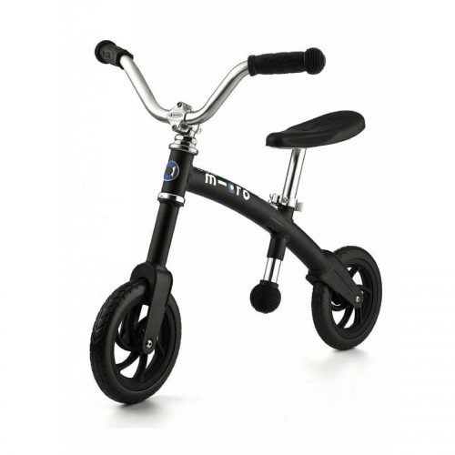 Micro G Bike+ Chopper līdzvara ritenis – melns