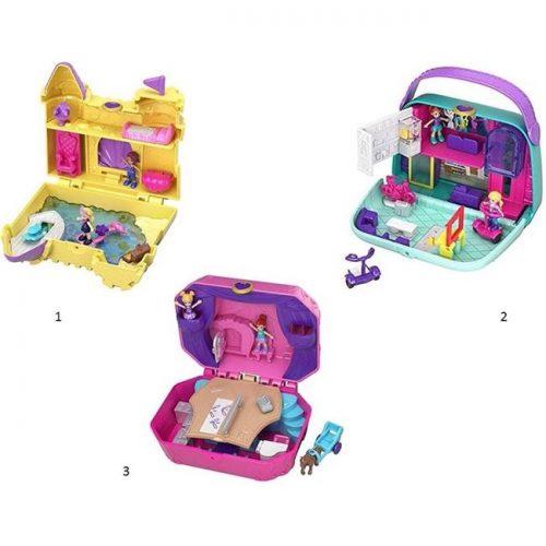 POLLY POCKET Pocket World  mini rotaļu komplekts ( trīs veidi)