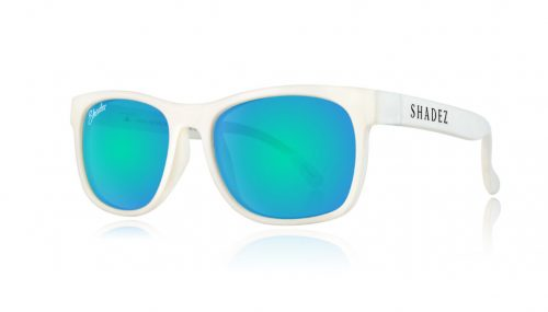 Shadez VIP saulesbrilles 3-7 gadi – balts/okeāna zils
