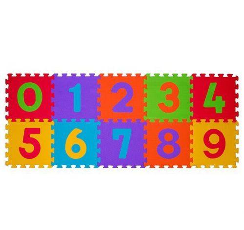 BABYONO Paklājs-puzzle CIPARI (10 kvadrāti), 274