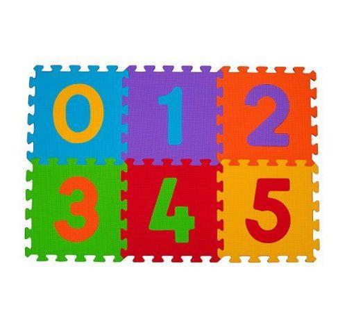BABYONO Paklājs-puzzle CIPARI (6 kvadrāti), 275