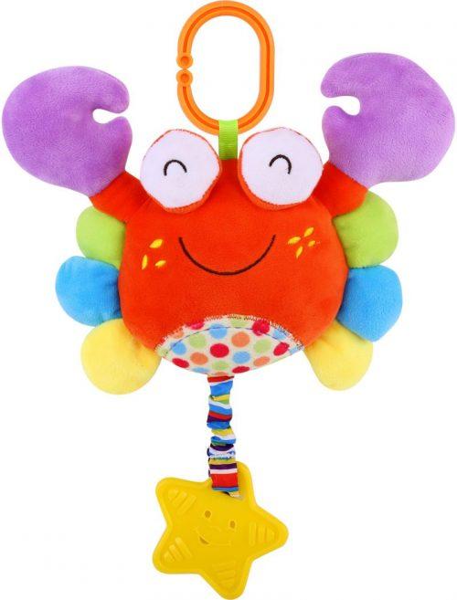 LORELLI Muzikālā plīša rotaļlieta KRABIS 0m+, 10191240003