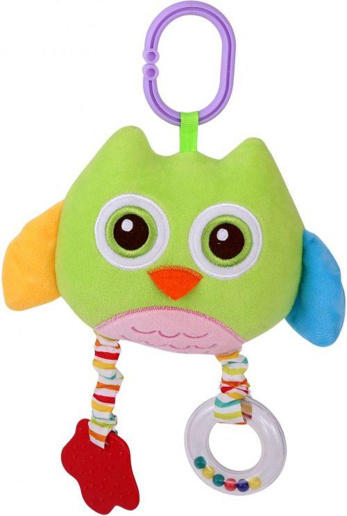 LORELLI Plīša rotaļlieta OWL zaļa 0m+, 10191240002