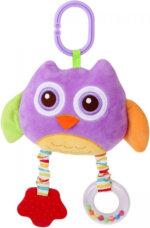 LORELLI Plīša rotaļlieta OWL violeta 0m+, 10191240001
