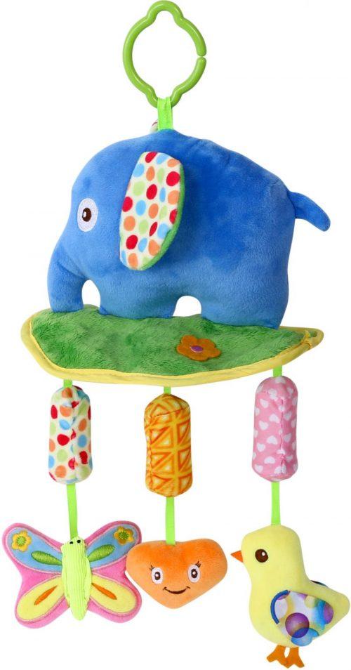 LORELLI Plīša rotaļlieta ar skaņu ELEPHANT 0m+, 10191230003
