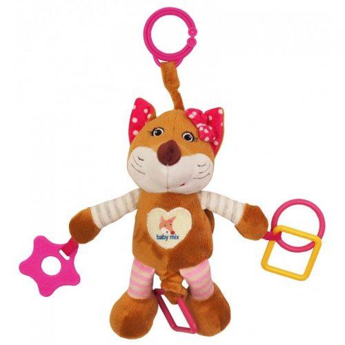 BABY MIX Plīša rotaļlieta ar vibrāciju LAPSA, 17509P rozā