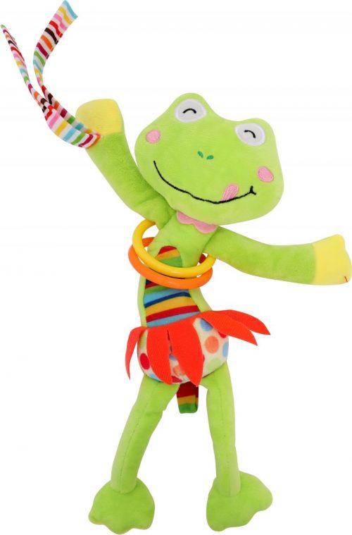 LORELLI Plīša rotaļlieta ar vibrāciju FROG 0m+, 10191200001