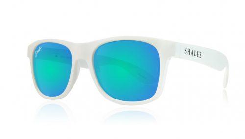 shadez saulesbrilles jauniešiem un pieaugušajiem – balts/okeāna zils