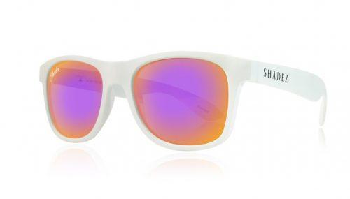 shadez saulesbrilles jauniešiem un pieaugušajiem – balts/violets