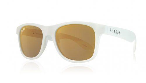 shadez saulesbrilles jauniešiem un pieaugušajiem – balts/zelts
