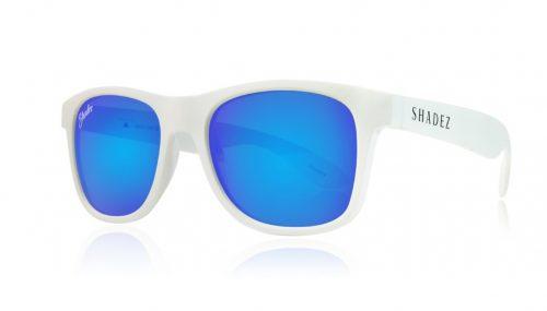 shadez saulesbrilles jauniešiem un pieaugušajiem – balts/zils