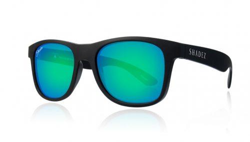 shadez saulesbrilles jauniešiem un pieaugušajiem – melns/zaļš