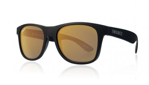 shadez saulesbrilles jauniešiem un pieaugušajiem – melns/zelts