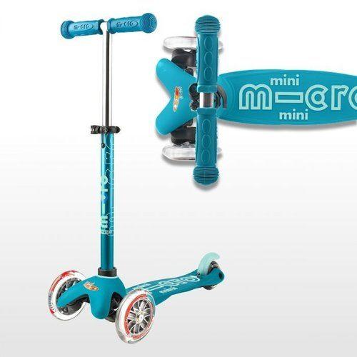 skrejritenis Micro Mini Deluxe LED ( spīdoši riteņi ) – zils