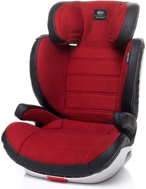 4BABY PRO-FIX 15-36kg Bērnu autosēdeklis Red