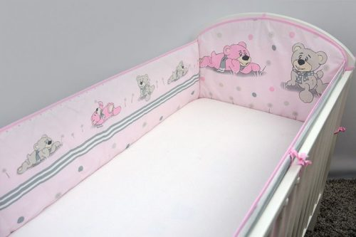 ANKRAS Apmalīte bērnu gultiņai Dreamer 360 cm – rozā