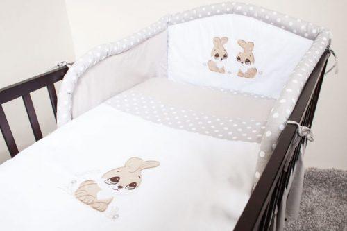 ANKRAS Rabbit Apmalīte bērnu gultiņai 360cm – pelēks
