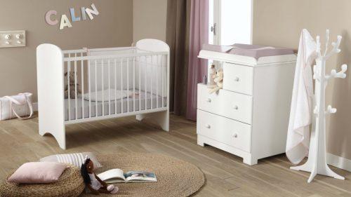 Bērnu istabas komplekts (kumode+gultiņa+matracis)  Doux Nid