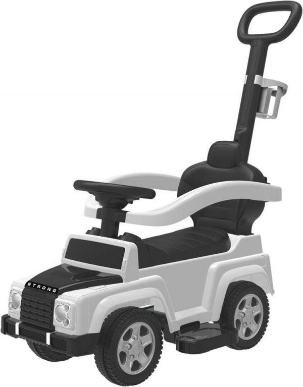 BABY MIX JEEP Bērnu stumjamā mašīna ar rokturi, UR-HZ635 balta