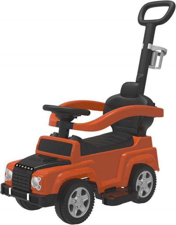 BABY MIX JEEP Bērnu stumjamā mašīna ar rokturi, UR-HZ635 oranža