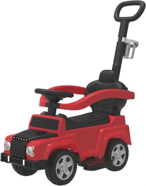 BABY MIX JEEP Bērnu stumjamā mašīna ar rokturi, UR-HZ635 sarkana