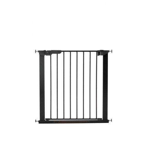 BABYDAN drošības vārtiņi Premier Pressure Gate, melns ar 2 pagar.